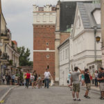 Sandomierz mury miejskie Brama Opatowska