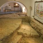Brno zamek Špilberk fundamenty cylindrycznej gotyckiej wieży
