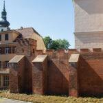 Opole zrekonstruowany fragment murów przy tzw. Zamku Górnym
